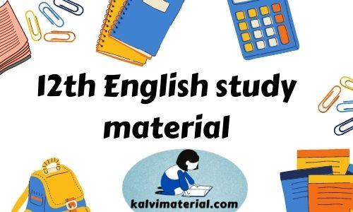 12th english 12th English study material