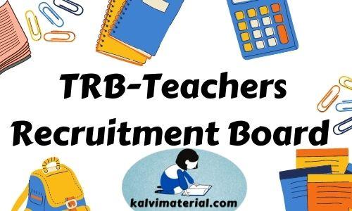 TRB PG TRB Tamil Study Material pdf