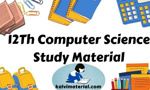 12Th Computer Science Study Material in pdf