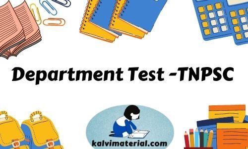 Tnpsc Department Exam