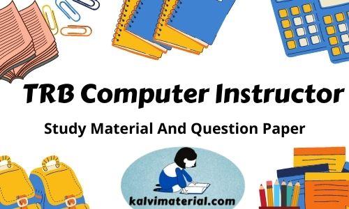 TRB Computer Instructor TRB Computer Instructor Study Material Pdf